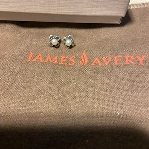 James Avery Pearl flower studs